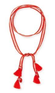 Chan Luu chain trim chiffon necktie